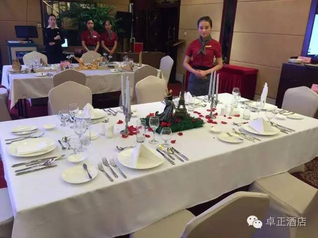... department and housekeeping assessment of project are Chinese banquet table setting western food table setting Chinese style bed bed/night service. & Hotel skills duration all show ZhuoZheng elegant demeanour ...